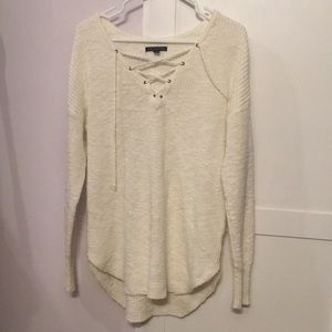 American Eagle tie up sweater